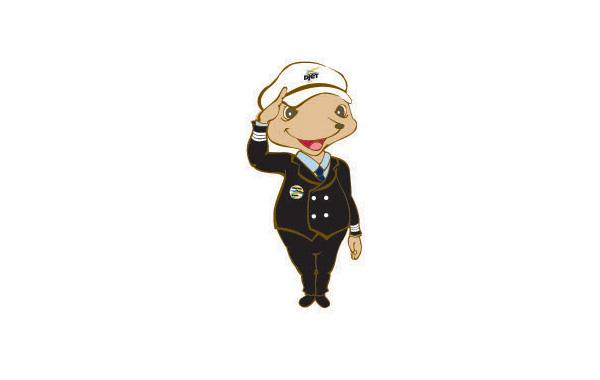 卡通的警察人物形象,可爱风格的人物logo设计欣赏