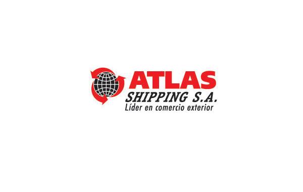 左边 分类:logo设计欣赏    atlas红色大气字母品牌标志,左边是地球仪